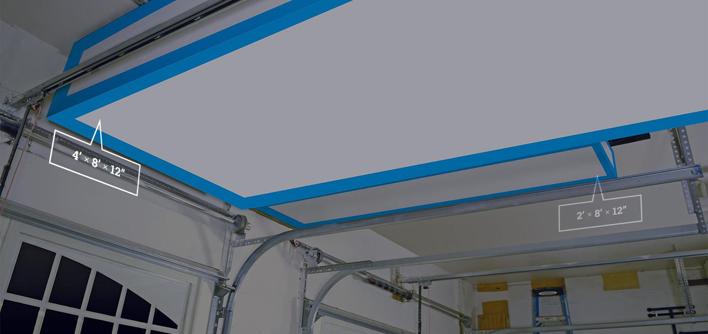 Garage with shown storage